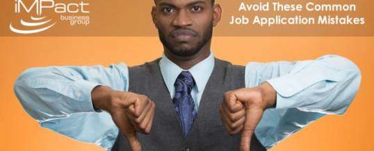 Avoid These Common Job Application Mistakes