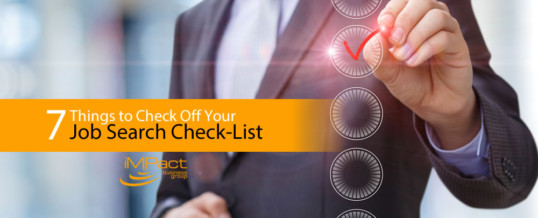 7 Things to Check Off Your Job Search Check List
