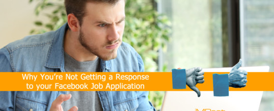 Why You're Not Getting a Response to Your Facebook Job Application