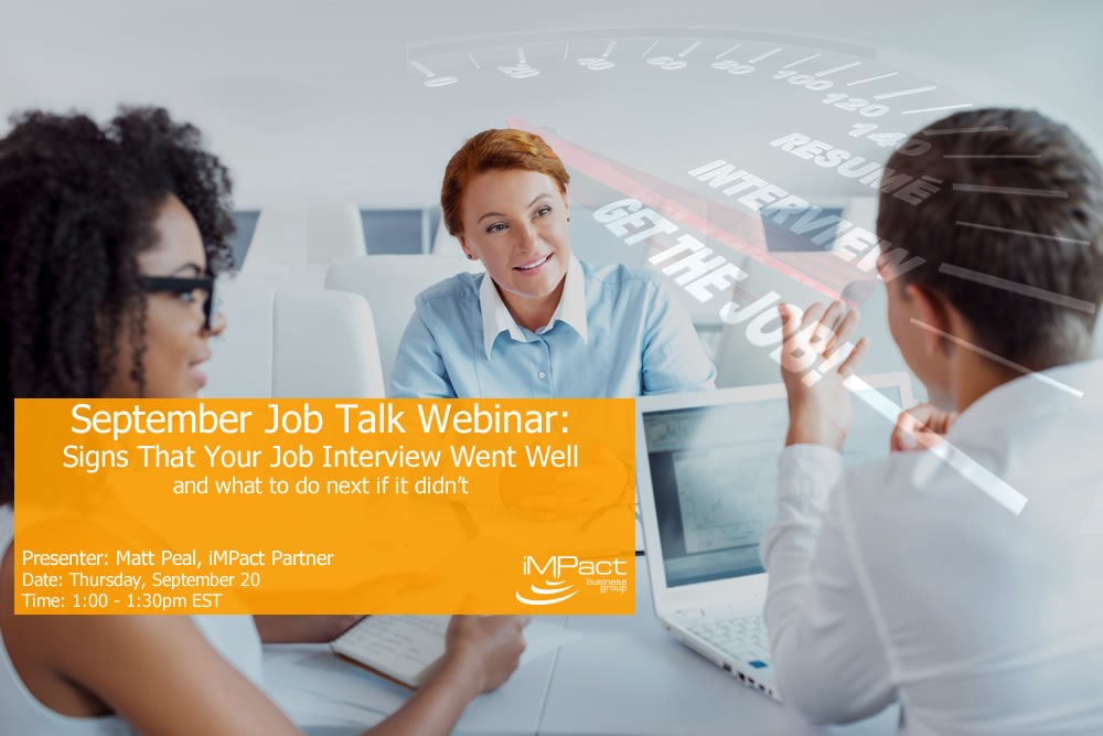 12 Signs Your Interview Went Well Webinar
